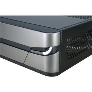 Inter-Tech ITX-101 ITX Tower 60 Watt schwarz/silber