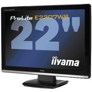"22"" (55,88cm) Iiyama ProLite E2207WS-B2 Schwarz 1680x1050 DVID/VGA/Audio"