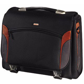 "Hama Notebook-Tasche Kansas 17.3"" (43,9cm) schwarz/orange"