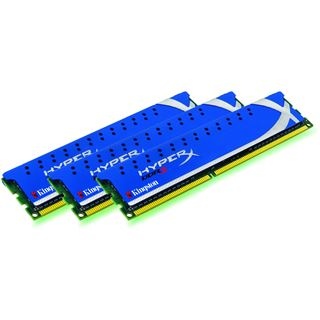 6GB Kingston HyperX DDR3-1600 DIMM CL8 Tri Kit