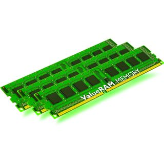 3GB Kingston ValueRAM DDR3-1066 ECC DIMM CL7 Tri Kit