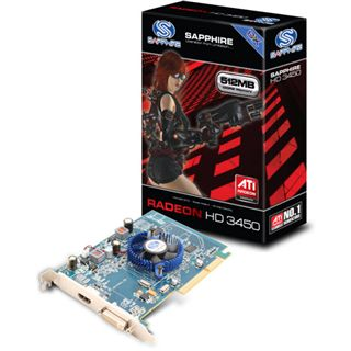 512MB Sapphire Radeon HD 3450 GDDR2 AGP