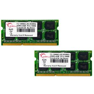 2GB G.Skill SQ Series DDR3-1066 SO-DIMM CL9 Single