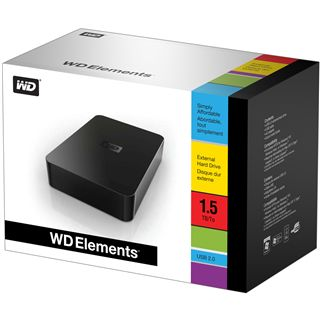 "1500GB WD Elements Desktop WDBAAU0015HBK-EESN 3.5"" (8.9cm) USB 2.0 schwarz"