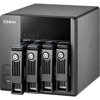 "QNAP Turbostation TS-410 NAS System für 4x2,5"" oder 4x3,5"" SATA II HDD Schwarz"