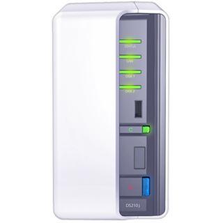 """Synology Disk Station DS210j NAS System für 2x2,5"""" oder 2x3,5"""" SATA II HDD Weiß"""