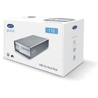 """1000GB LaCie Grand Hard Disk 301897EK 3.5"""" (8.9cm) USB 2.0 schwarz/alu"""
