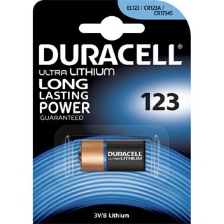 Duracell Ultra 123 CR123A Lithium Batterie 3.0 V 1er Pack