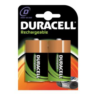 Duracell Ultra HR20 Nickel-Metall-Hydrid D Mono Akku 3000 mAh 2er Pack