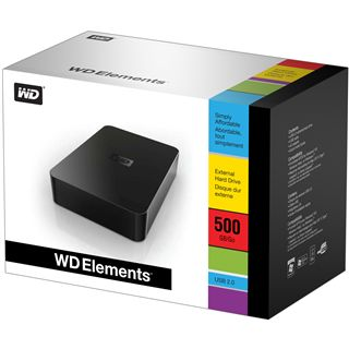 "500GB WD Elements Desktop WDBAAU5000EBK-EESN 3.5"" (8.9cm) USB 2.0 schwarz"
