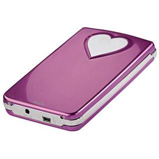 """2.5"""" (6,35cm) Hama SATA Festplattengehäuse Pink-Heart für HDD"""