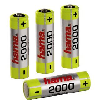Hama HR6 AA / Mignon Nickel-Metall-Hydrid 2000 mAh 4er Pack