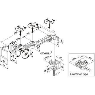 Newstar FPMA-D930 Tischhalterung silber