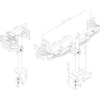 Newstar FPMA-D935D Tischhalterung silber