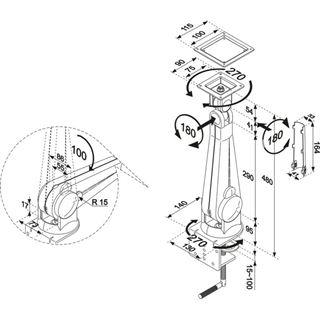 Newstar FPMA-D100 Tischhalterung silber