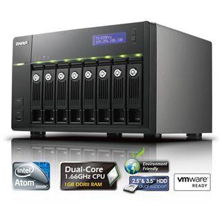 "QNAP Turbostation TS-859 Pro NAS System für 8x2,5"" oder 8x3,5"" SATA II HDD Schwarz"