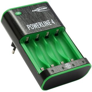Ansmann Powerline 4 Zerowatt Ladegerät bis 4 Akkus