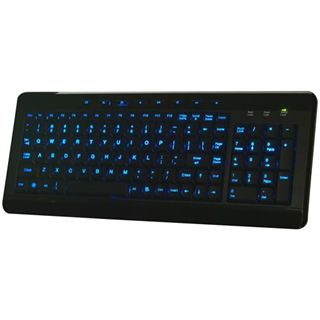 Perixx Periboard 308 Lighting Tastatur Schwarz/Blau Deutsch USB