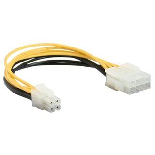 InLine Stromadapter intern, 8pol ATX2.0 Netzteil (EPS) zu 4pol ATX1.3 Mainboard, 0,15m