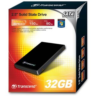 "32GB Transcend SSD 2.5"" (6.4cm) SATA 3Gb/s SLC (TS32GSSD25S-S)"