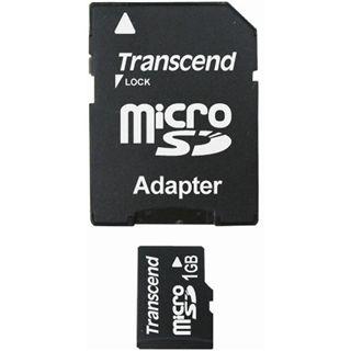 1 GB Transcend Standard microSD Class 2 Retail inkl. Adapter