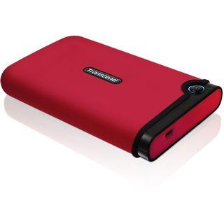 """500GB Transcend StoreJet 25M TS500GSJ25M-R 2.5"""" (6.4cm) USB 2.0 rot"""