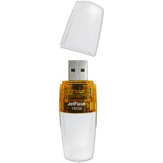 16 GB Transcend JetFlash V20 weiss USB 2.0