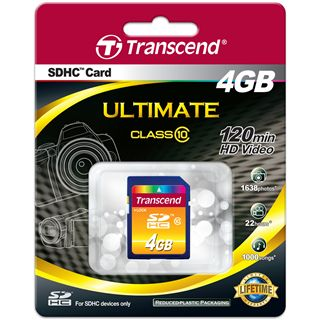 4 GB Transcend Standard SDHC Class 10 Bulk