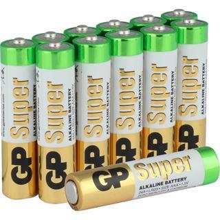 GP Batteries Super LR03 Alkaline AAA Micro Batterie 1.5 V 12er Pack