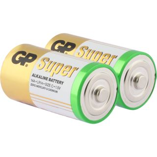 GP Batteries Super LR14 Alkaline C Baby Batterie 1.5 V 2er Pack