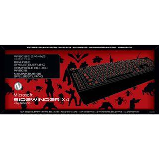 Microsoft SideWinder X4 Gaming Keyboard USB Deutsch schwarz (kabelgebunden)