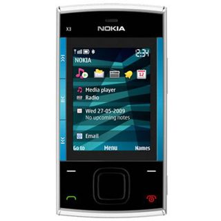 Nokia X3 25 Tracks silber blau