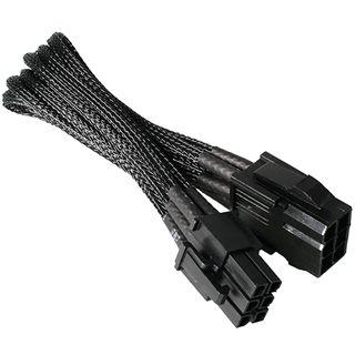 NZXT schwarzes 25cm 6-Pin Stromverbindungskabel für Grafikkarten (CB-6V)