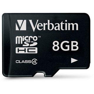 8 GB Verbatim Standard microSDHC Class 4 Retail