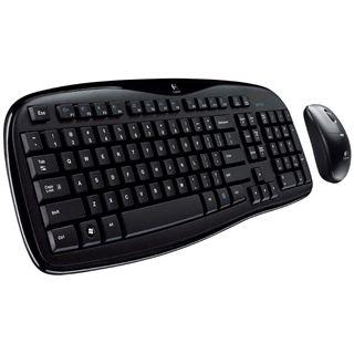Logitech Cordless Desktop MK250 Tastatur+Maus Schwarz Deutsch USB
