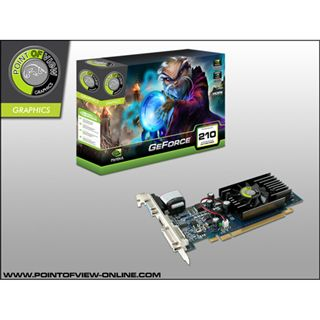 512MB Point of View GeForce GT 210 DDR2 PCIe