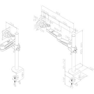Newstar FPMA-D935 Tischhalterung silber