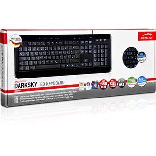 Speedlink Darksky LED Tastatur Schwarz Deutsch USB