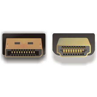 (€5,63*/1m) 3.00m Delock Displayport 1.2 Adapterkabel Displayport Stecker auf HDMI-Stecker Schwarz vergoldet