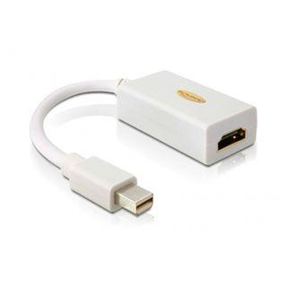 (€54,50*/1m) 0.20m Delock Displayport 1.1 Adapterkabel Mini Displayport Stecker auf HDMI-Buchse Weiß