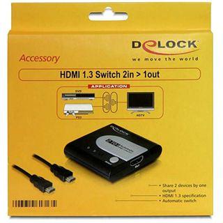Delock 61713 2-fach HDMI-A/V-Switch