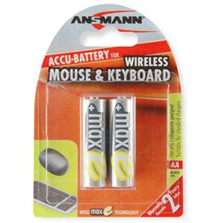 ANSMANN maxE Wireless Mouse und Keyboard AA / Mignon Nickel-Metall-Hydrid 2100 mAh 2er Pack