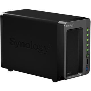 """Synology Disk Station DS710+ NAS System für 2x2,5"""" oder 2x3,5"""" SATA II HDD Schwarz"""