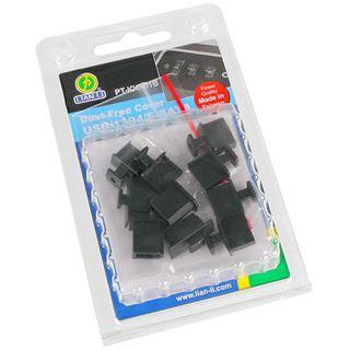 Lian Li schwarze Abdeckkappen für I/O-Panel-Anschlüsse - 6x USB, 2x eSATA und 2x Firewire (PT-IOC-01B)