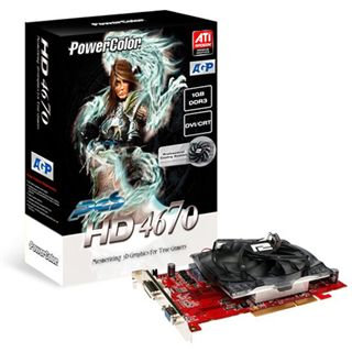 1GB PowerColor Radeon HD 4670 Aktiv AGP (Retail)