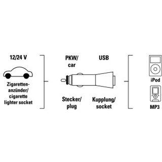 Hama USB-Kfz-Ladegerät Universal