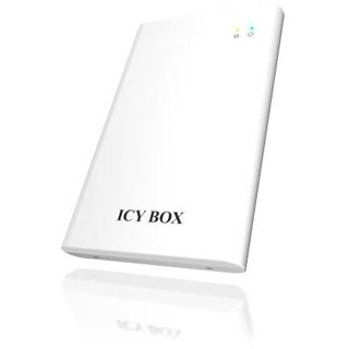 """2.5"""" (6,35cm) Icy Box IB-221BPW SATA USB 2.0 Weiß"""