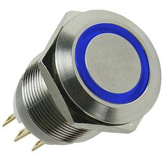 LAMPTRON Silverline blauer Vandalismusschalter für Gehäuse (LAMP-SW1611L-S)