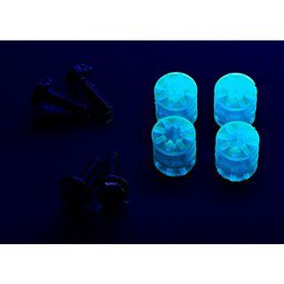 LAMPTRON 4x Schraube + Gummi Unterlegscheibe UV blau Montage Kit für Festplatten (LAMP-RS7002)