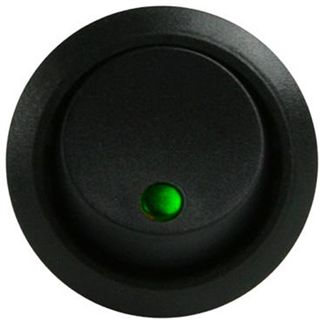 Lamptron Kippschalter rund - green LED